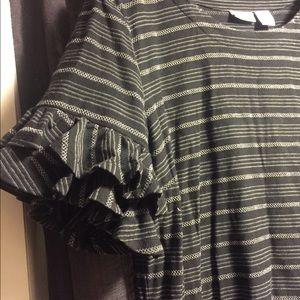 Tabitha Webb Dresses - Tabitha Webb Ruffle Sleeve Shift Dress M